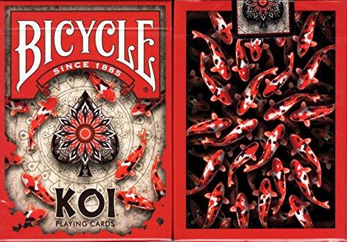Koi Fish Bicycle Playing Cards Poker Size Deck USPCC Custom Limited Edition