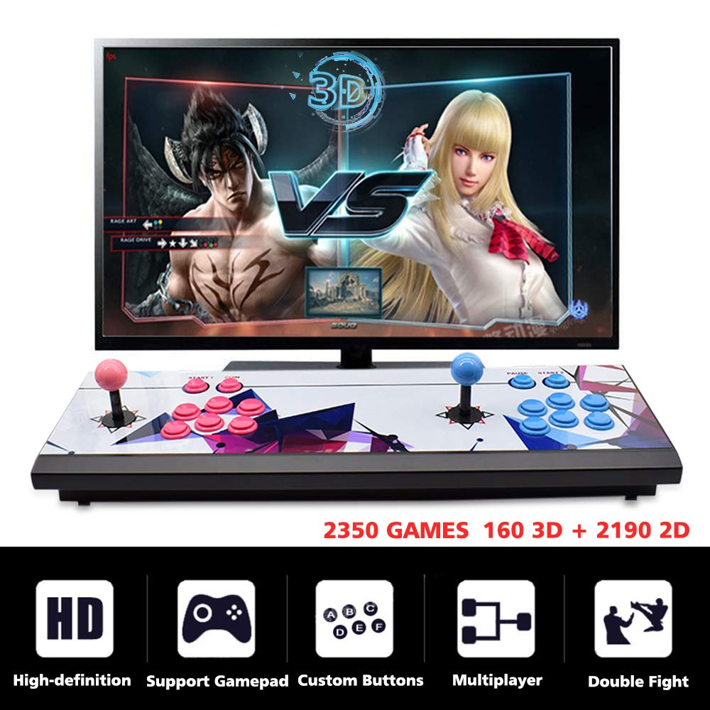 ElementDigital Arcade Game Console 1080P 3D & 2D Games 2350 in 1 Pandora's Box 2 Players Arcade Machine with Arcade Joystick Support Expand 6000+ Games by ElementDigital (Image #2)