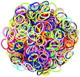 Darice 624-Piece Stretch Band Bracelet Loops and S-Clips Set, Mix (RB1011)