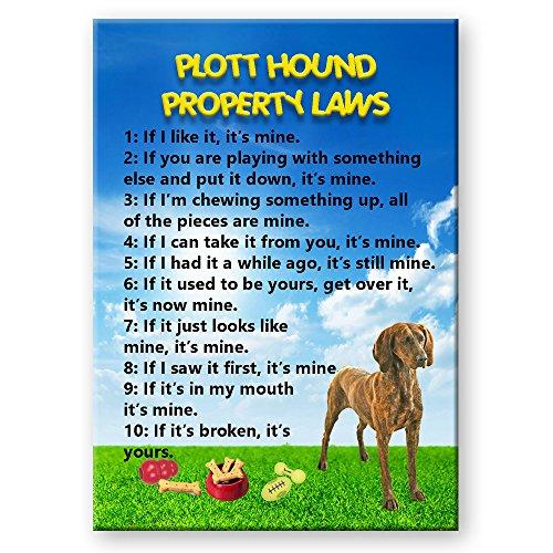 (Plott Hound Property Laws Fridge Magnet)