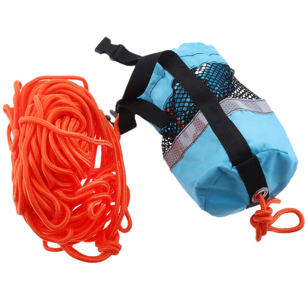 Homyl Blue 102ft Rescue Emergency Drowning Bag Line Rope Saver Swiming Throw Bag by Homyl (Image #6)