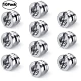 Hotroyal Camera 1/4''-20 to 3/8''-16 Reducer Bushing Convert Screw Adapter for Monopod, Tripod, Ballhead, Stand and Video Light DSLR SLR (10 Pack) (Color: 1/4'' to 3/8-silver)