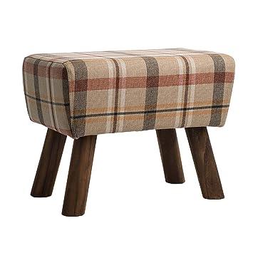 Amazon.com: Sofá taburete de madera desmontable, moderno ...
