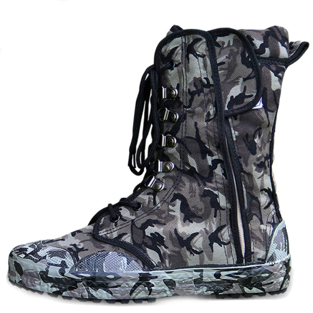 SHANLY Bota De Combate De Desierto De Alta Altura para Hombre Calzado De Utilidad De Trabajo Cordones De Ejército Botas Tácticas Militares Botas De Entrenamiento Escalada De Fuerzas,Camouflage-41 41 Camouflage