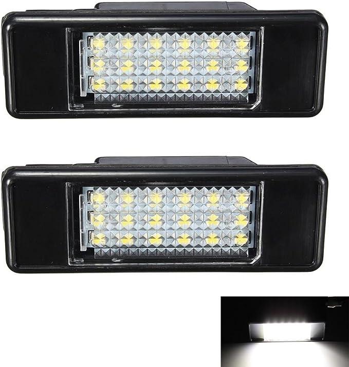 2x Peugeot 208 Bright Xenon White LED Number Plate Upgrade Light Bulbs