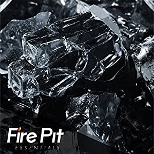 Fireglass 10-pound Fire Glass with Fireplace Glass and Fire Pit Glass, 1/2-inch, Black