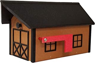 product image for DutchCrafters Poly Post-Mount Mailbox American Made (Black and Cedar)