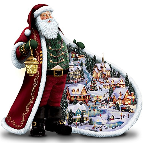 Thomas Kinkade Illuminated *Santa's Holiday Village* Figurine