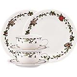 Hutschenreuther 02460-725492-28364 - Set di vasellame in porcellana da 6 pezzi, motivo: dolcetti di Natale