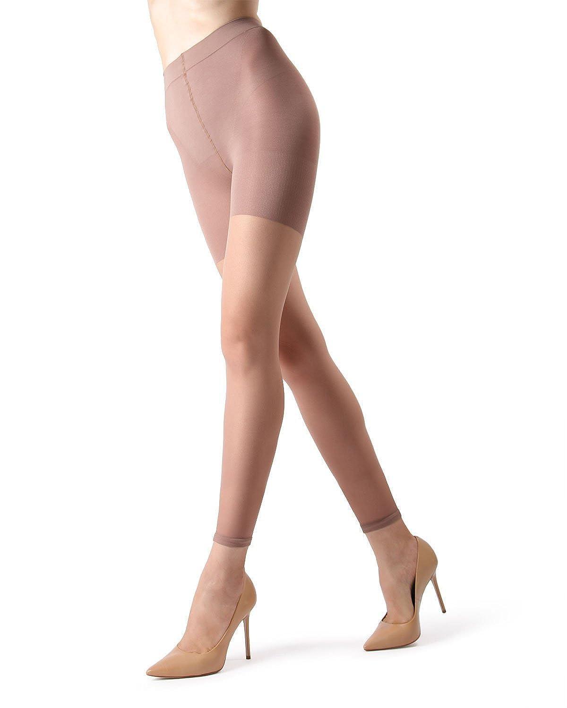 99c2633ce6 MeMoi Sheer Footless Capri Shaping Tights