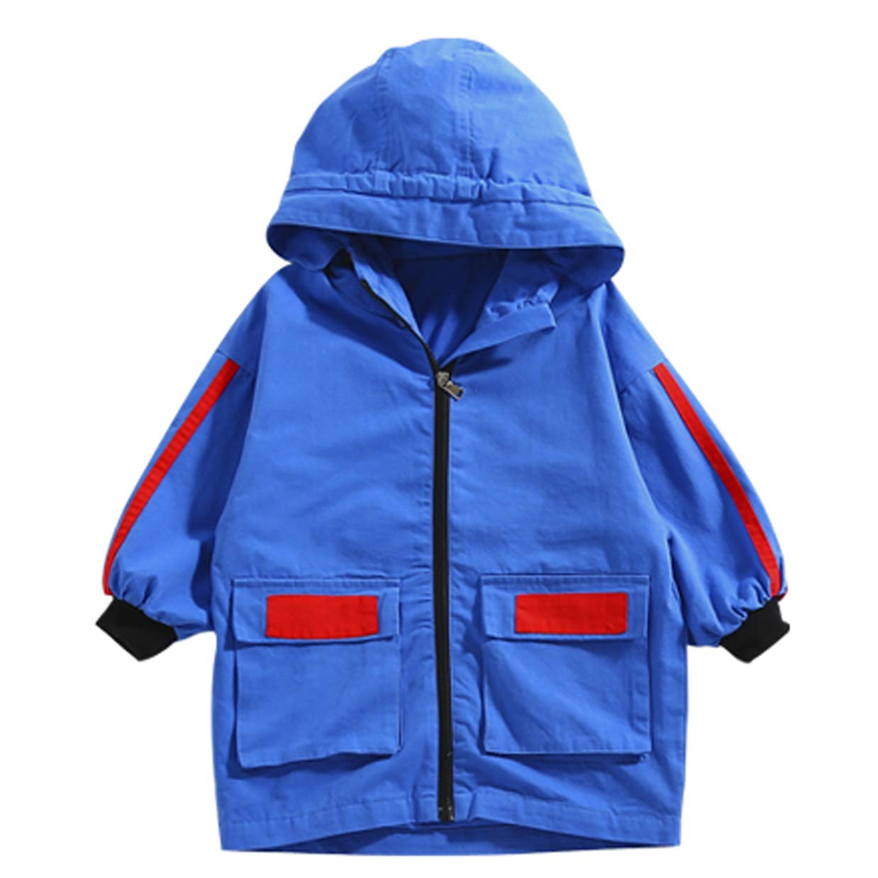 bleu  Garçon Sweat à Capuche Sweat-Shirt Garçon pour Décontracté Enfant à Capuche encapuchonné Sweatshirt 4-10 Ans