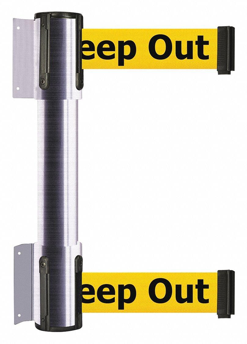 Belt Barrier,7-1/2 ft,Danger- Keep Out by TENSATOR