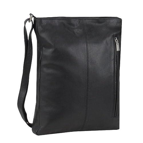 Mika Soft Nappa bolso bandolera piel 28 cm negro  Amazon.es  Zapatos y  complementos 631a8c79f3c3