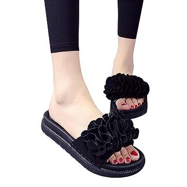 af4e12a3191d Challyhope Women s Summer Beach Hawaiian Foam Flower Thick Bottom Shoes  Slip-Resistant Breathable Flat Sandal