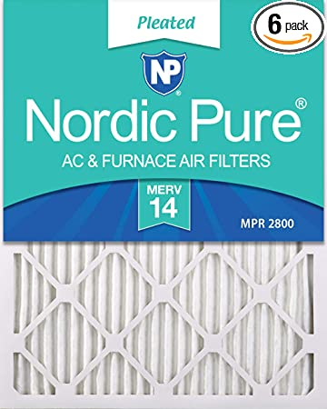 Nordic Pure 20x22x1 MERV 13 Plus Carbon AC Furnace Filters Qty 6