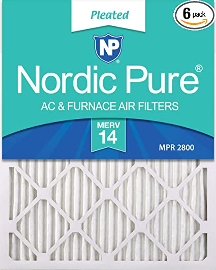 Nordic Pure 14x30x1 MPR 1900 Healthy Living Maximum Allergen Reduction Replacement AC Furnace Air Filters 4 Pack