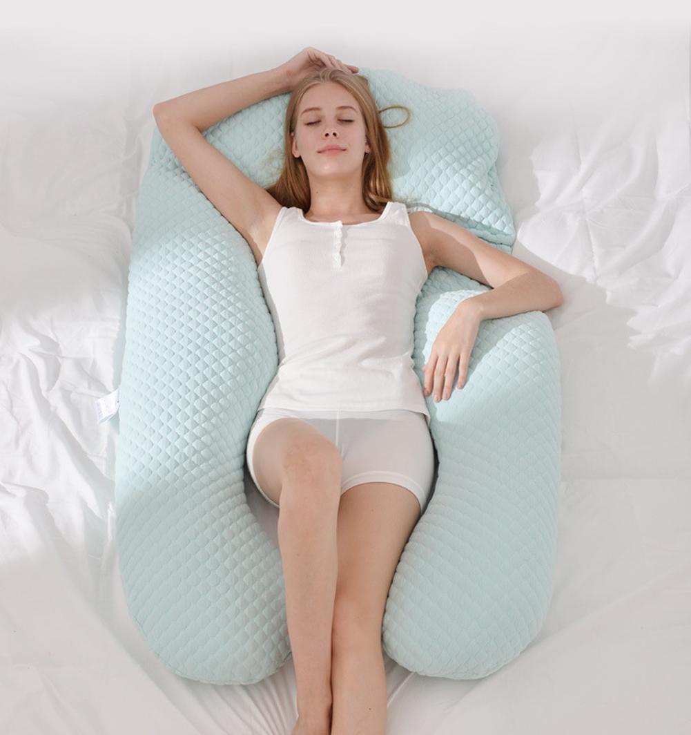Schwangere Frauen schützen Kissen Taille Multifunktions-Handy-Speicher unterstützen U - Kissen , light green