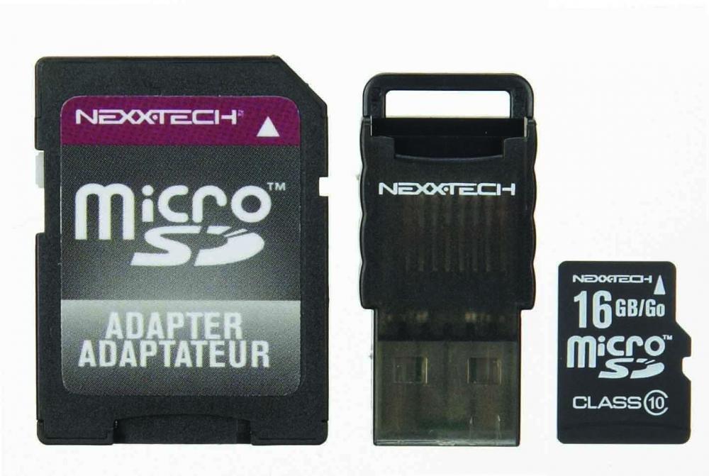 Nexxtech microSD Pro Class 10 SDHC 16GB Memory Card
