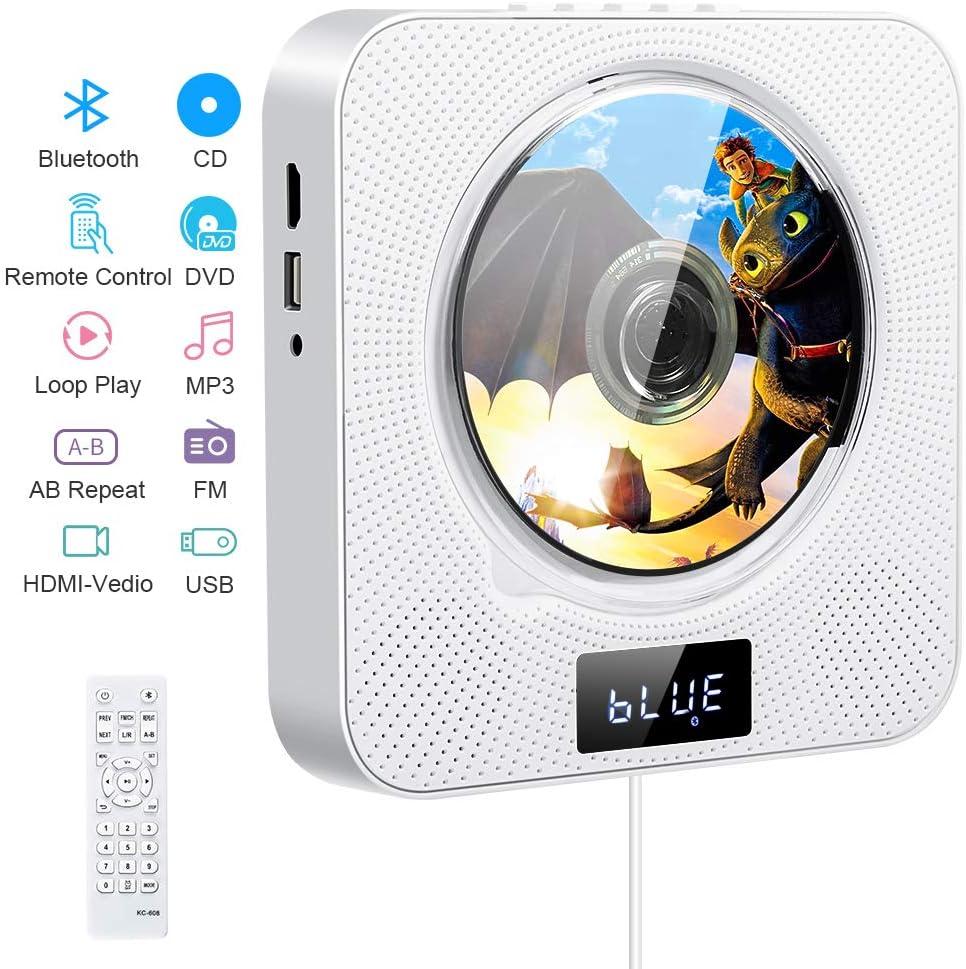Dvd Cd Player Bluetooth Wand Montierbar Tv Musik Dvd Elektronik