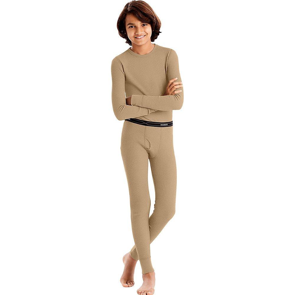 Hanes Boys' Thermal Underwear Set, Xlarge, Natural 33500