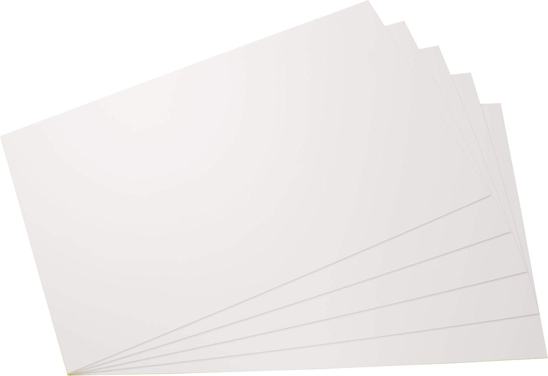 Placas de poliestireno placas PS placas blanco fuerte, rigido, duro plásticas para modelismo/manualidades en blanco, diferentes tamaños y cantidades, comprar 5 piezas, 297mm x 210mm x 1,5mm