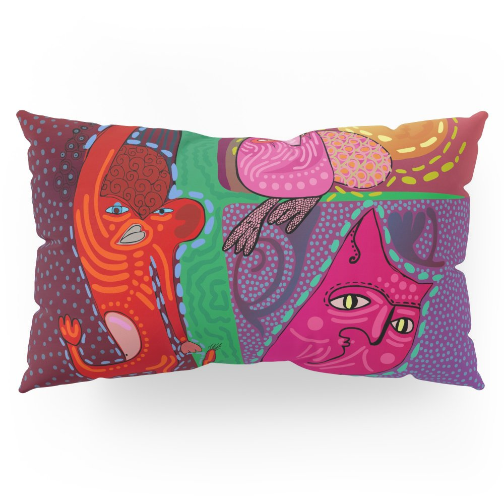 Society6 Doodle Animals Hanging Out Pillow Sham King (20'' x 36'') Set of 2