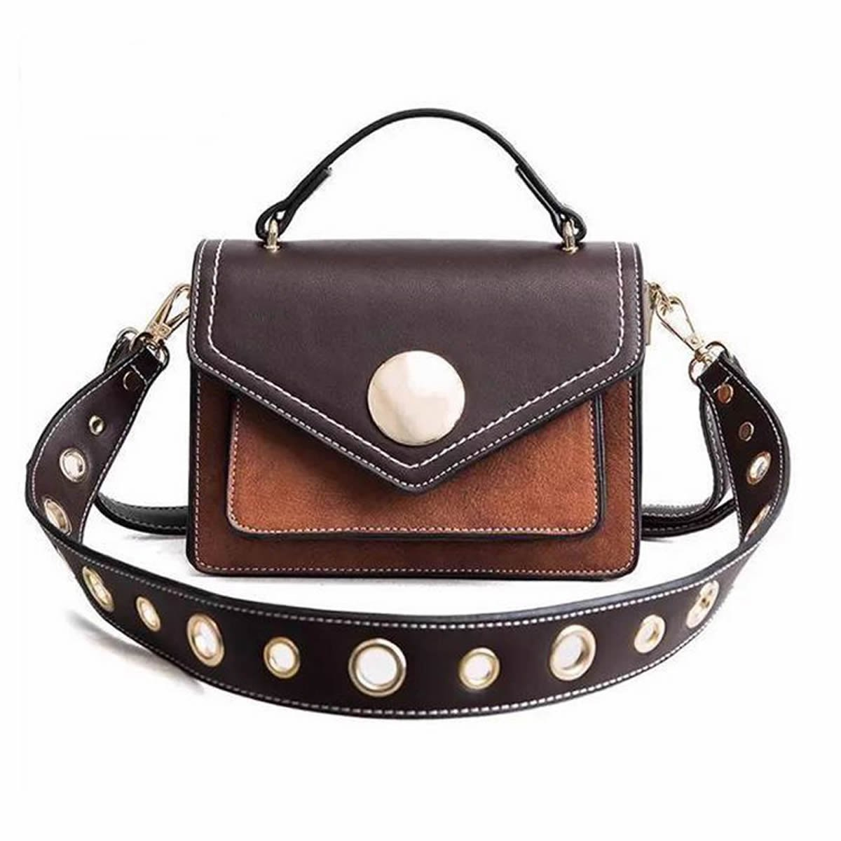 Crossbody Shoulder Bag Mini Shoulder Bag Women Girls England Style Brown