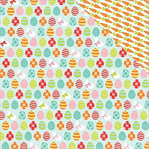 Echo Park Paper EA100003 Easter Double-Sided Cardstock (25 Sheets Per Pack), 12