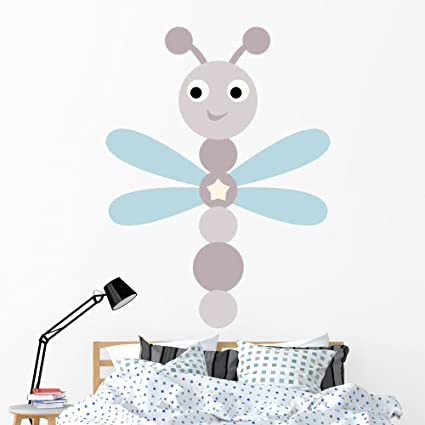 Amazon Com Wallmonkeys Gen 11391 60 Wm277184 Cartoon Baby Dragonfly