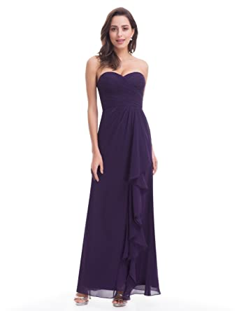 Ever-Pretty Strapless Long Ruffle Evening Dress 07088 at Amazon Womens Clothing store: