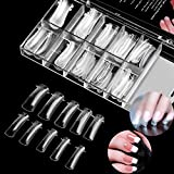 100PCS Clear Dual Nail System Form Full Cover Acrylic Nail Mold For UV Nail Art with Scale (Nail Mold#1)