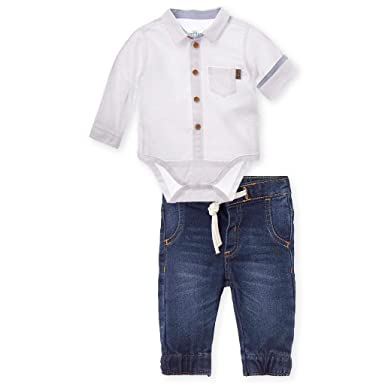 Amazon.com  OFFCORSS Matching Brother Siblings Pants and Bodysuit Button Up Shirt  Outfits for Boys Sets Ropita Conjunto Bebes Varon Niño Recien Nacido Ropa  ... 614672f97