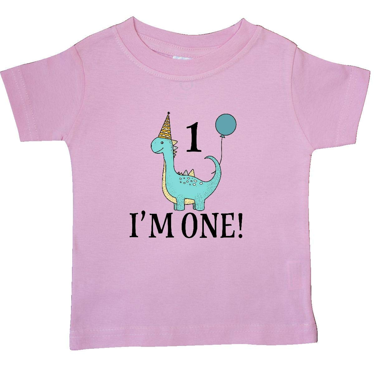 inktastic First Birthday Dinosaur Party 1 Year Old Baby T-Shirt