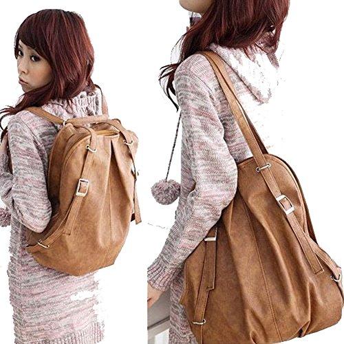 cl-fashion-korean-style-girls-pu-leather-backpack-handbag-shoulders-bag-light-brown