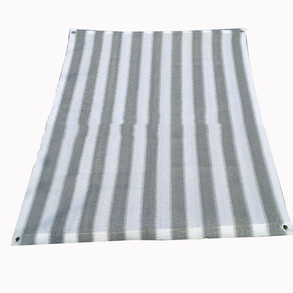 QIANGDA オーニング シェード遮光ネットパビリオン シェードネット パーゴラフード ポリエチレン 暗号化 日焼け止め 屋根断熱材 昆虫を予防し、 グレー+ホワイト、 マルチサイズ オプション (サイズ さいず : 4 x 4m) B07F1PVF1Q 4 x 4m  4 x 4m