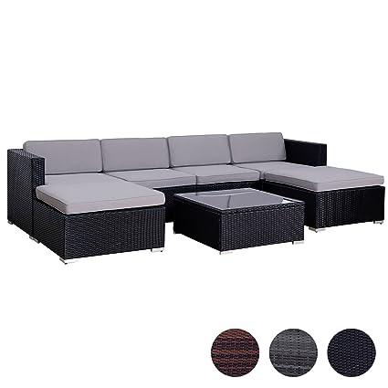 Bevorzugt Amazon.de: SVITA Lugano Poly Rattan Lounge Garten-Set XXL Sofa-Set CS47