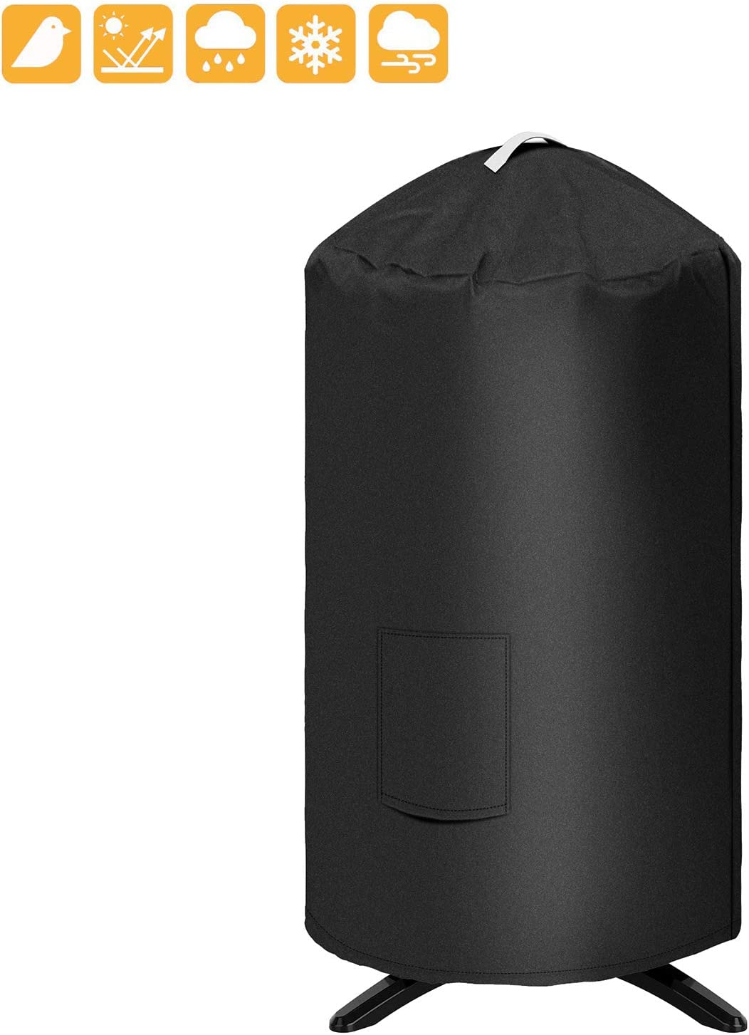 "Grisun Round Grill Cover for George Foreman GFO3320 GFO240 Grill, 19.5""(Dia) 32""(Tall) Water Proof Heavy Duty Outdoor Canvas BBQ Grill Cover Dome Smoker Cover Fits or Similar Size Grills"