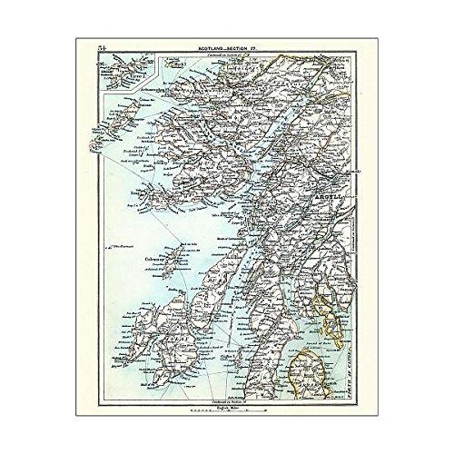 Media Storehouse 10x8 Print of Antique map, Scotland, Jura, Mull, Argyll, Islay 19th Century (15192904) ()
