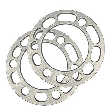 Separadores de ruedas, 2 unidades, aleación de aluminio, 6 tornillos, 6,5 mm de grosor, espaciadores de rueda universales: Amazon.es: Coche y moto