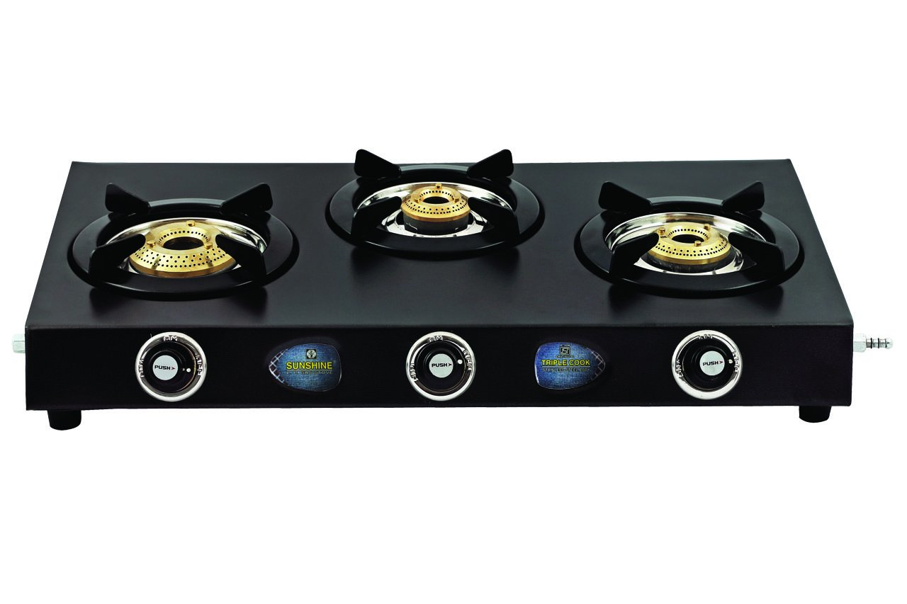 Buy Sunshine Three Burner T.cook CTD Online At Low Prices In India    Amazon.in