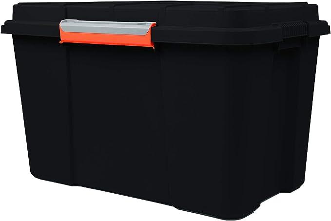 Ondis24 Aufbewahrungsbox Multifunktionsbox Ca 74 X 44 X45 H Cm Lagerbox Outdoor Box Scuba Eco Xl 105 Liter Abschließbar Laufrollen Anthrazit Küche Haushalt