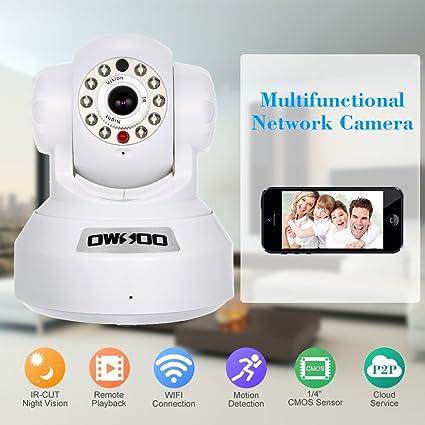 OWSOO Cámara IP CCTV Red de Seguridad Cámara PTZ Almacenamiento en la Nube P2P Android /