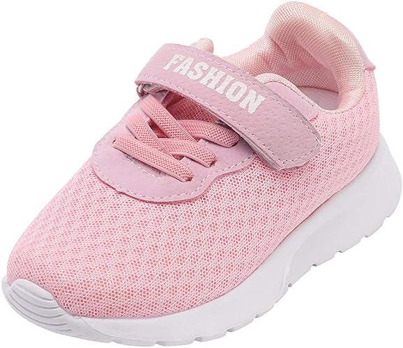 Logobeing Zapatos 3-12 Años, Zapatos Bebe Moda Zapatillas Niños Chicos Niñas Casuales Zapatillas Deportivas de Running Deportivo con Malla Transpirable Ropa (4-4.5 Años, Rosado): Amazon.es: Zapatos y complementos