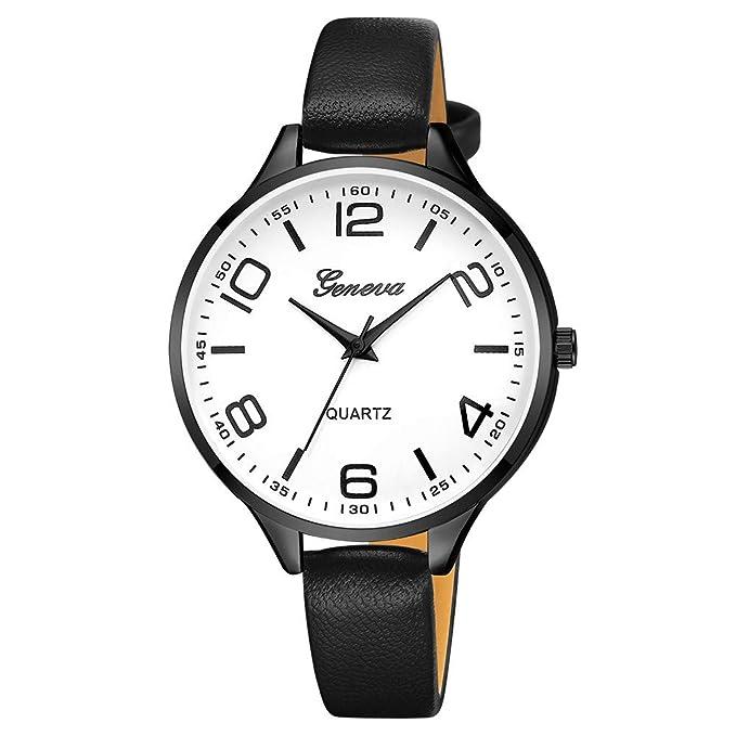 Coconano Relojes Mujer Baratos, Reloj deportivo de Cuarzo de Lujo Con Banda de Cuero Con Esfera de Acero Inoxidable Militar: Amazon.es: Ropa y accesorios