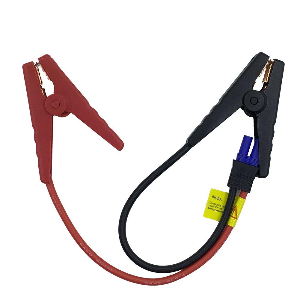 EC5 Jump Starter Qutaway Replacement EC5 Conector Cable de puente de emergencia de emergencia Cable de cocodrilo Clamp Booster Clips para autom/óviles con caja de protecci/ón de seguridad