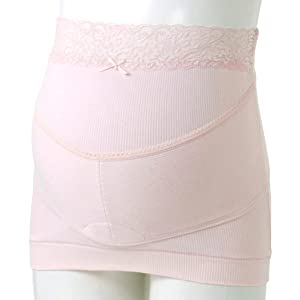 FUN fun Women's Inujirushi Honpo Maternity Pregnancy Belt Belly Band Cotton Electromagnetic Wave Shield Type L Pink