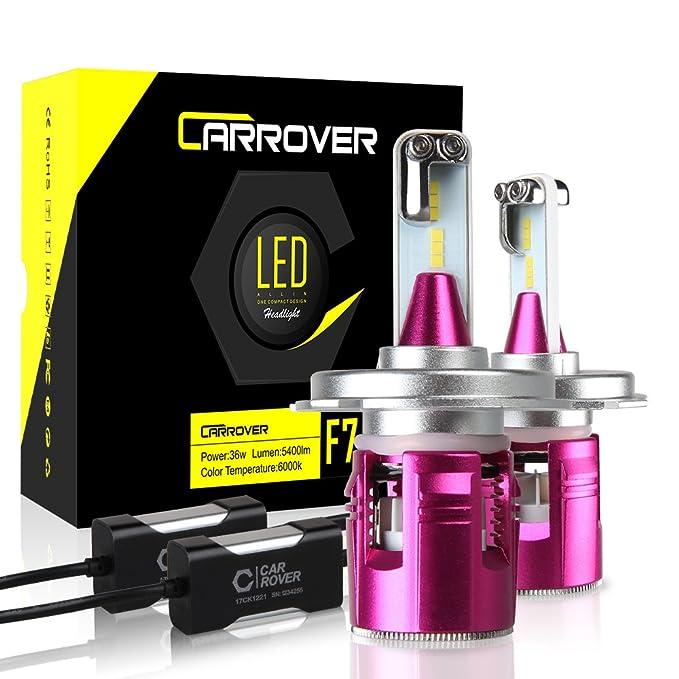 69 opinioni per Lampadine H4 LED 10800LM Auto Fari Abbaglianti e Anabbaglianti Kit Lampade ad
