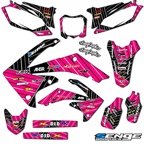 Senge Graphics Kit Compatible with Honda 2000-2003 XR 50 Race Series Pink Graphics -