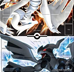 Pokemon Black White JAPANESE Trading Card Game Reshiram Zekrom Official Playmat