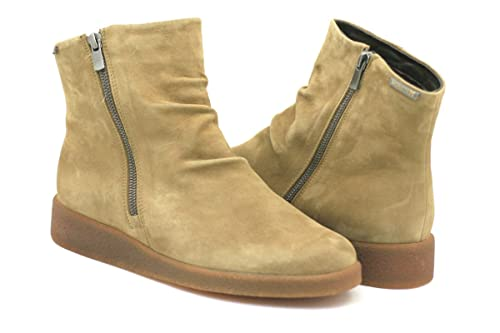 e6e3715d3f8 Mephisto Cassandra Booties Woman with Zipper with Removable Footbed Velcalf  Premium 12244 Tobacco Size  EU